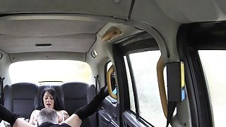Busty deep throats and pounds in taxi image