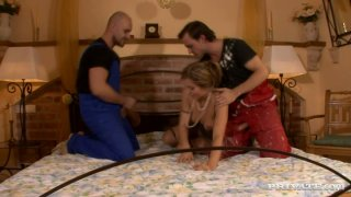 Mature sexploitress Evelina Marvellou in group sex video by Private image