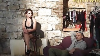 Sexy guy does interview about porn in_backstage clip image