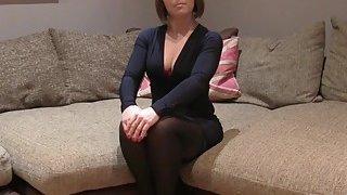Brunette in stockings rimming fake agent uk image