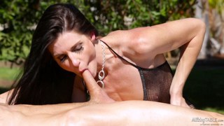 MILF India Summer creampied on the milking_table image
