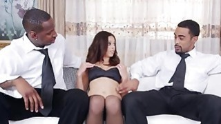 Brunette MILF Eva Long Gets Fucked In_Threesome With_Black Studs image