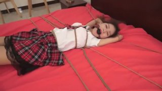Bondage Tickle Chinese Cute School Girl image