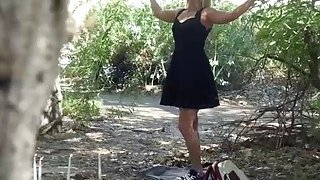 Kate England getting fucked by a stranger in the forest image
