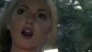 bokep dipaksa di bus - Blonde college skank natalie playing her little pussy in the back of a full bus image
