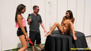 Ebony chick gets fucked by a drone_for sweet moolah image