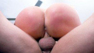MILF Nikki Benz bounces her ass on the hard cock image
