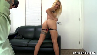 Blond hottie Cameron Canada showing off her sex skills to get the job image