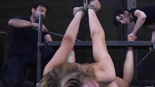 Tied up beauty receives gratifying for_her cunt image