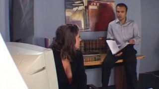 Sexy office girl Sara Stone turns out to be a_wild slut image