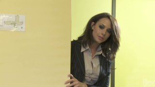Slutty patients Kaylani Lei & Chanel Preston get poked missionary on the table image