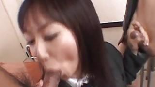 Lovely Asian Ryo enjoys giving double_blowjob image