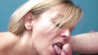 Liisa is sucking a stiff cock in the office image