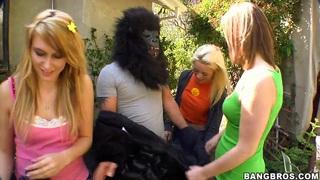 Katie Summers, Rebecca Blue, Tara Lynn Foxx and a monkeyman image
