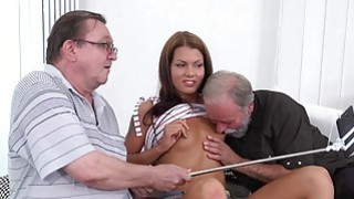 Sofia Like fuck with two old guys image