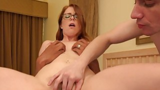 Redhead Wife_Makes Her Husband Suck Black_Cock image