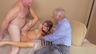 Mature couple young girl_hd party in the image