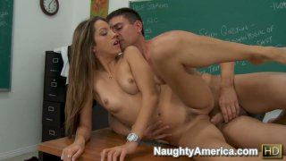 Beautifula and smart Jenna Haze gives an extra class to her student and fucks him hard image