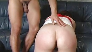 Cock brings tears to her eyes during their bdsm se image