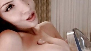Homemade Titfucking with sex toy on webcam image