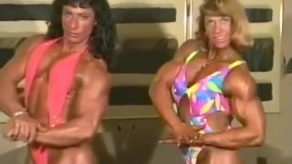 2 Sexy FBB Muscle Women Flexing and Posing image
