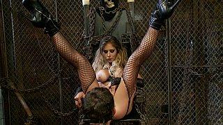 Divine babe BDSM hardcore fetish with bad guy image
