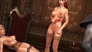 3D Busty Elf Babe Destroyed in Threesome! image