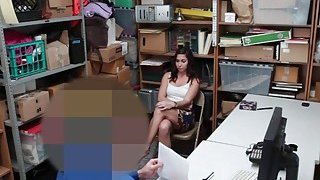 Geneva King suck the LP Officers meat while her dad watch image