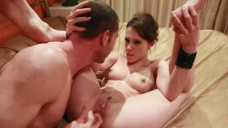 Slim and kinky chick Nikita Bellucci gives a blowjob and_gets poked mish image