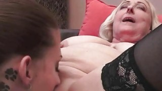 Busty Fat Grandmas vs Young Girls image