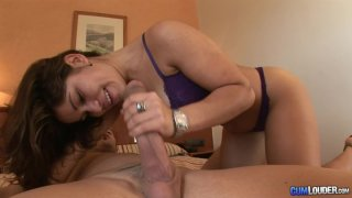 Sexy Latina Laura Moreno gets her next blowjob image