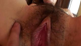 Uncensored Japanese milf with hairy slit Subtitles image