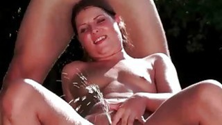 Hot couple fucking and pissing_outdoor image