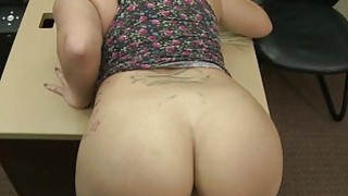 Busty big ass babe pounded by pawn guy image