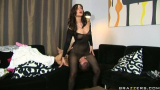 Image: Lustful slut Simone Peach sucks a dick in a 69 position and gets rammed in a doggy position