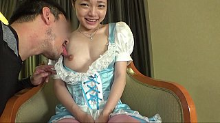 Fertile JAV teen gives a_footjob image