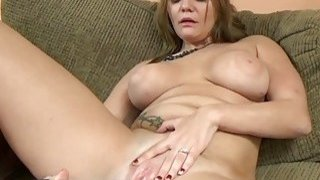 Image: Tonya Sinn uses a big toy on her wet pussy