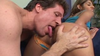 Hardcore fuck of tight hot MILF with juicy pussy licked and deep pounded with big dick image