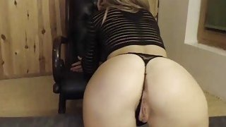 Skinny Horny Blonde Teasing Her Fans By Showing Her Perfect Ass On Cam image
