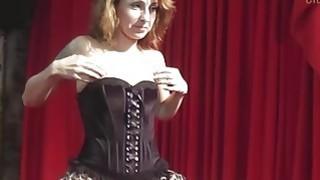 Redhead MILF plays with dildo and_fucks with 18yo guy image
