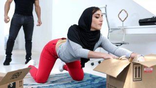 Hottie in Hijab manhandled_by her sister's stud image