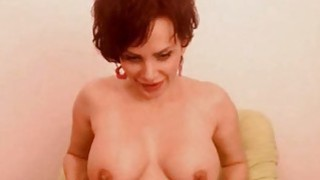 Juicy busty milf play with vibrator on webcam_for tokens image