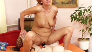Extremely horny amateur mom gets lesbian image