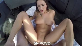 POV sex with hot hitchhiker Ashley Adams image