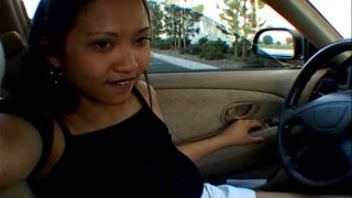Thai bitch is ready to suck a cock_right in the car image