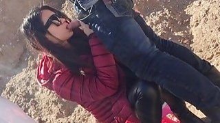 Amateur chinese chick and her boyfriend bang doggy style outdoor » Stunning chinese ass Mobile scene image