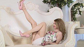 Beautiful in vintage dress_& lingerie image