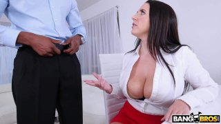 Busty Angela Takes A BBC In Her Ass image