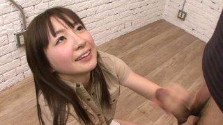 Ugly japanese slut sucking dick and rolling her eyes image
