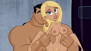 Slutty Blonde Cartoon Babe Gets A Creampie From A Massive Cock image